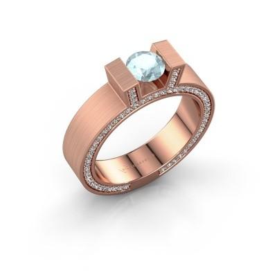 Picture of Ring Leena 2 375 rose gold aquamarine 5 mm