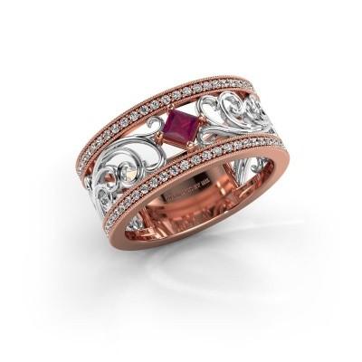 Ring Danae 585 rose gold rhodolite 3 mm