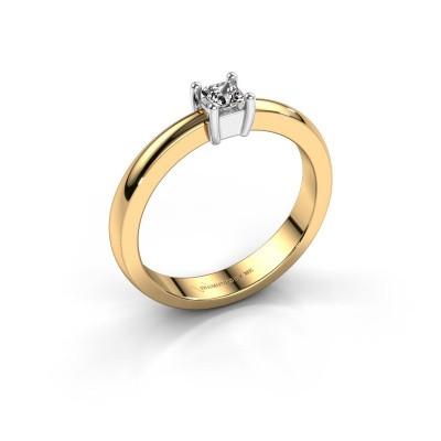 Foto van Verlovingsring Florentina Square 585 goud diamant 0.40 crt
