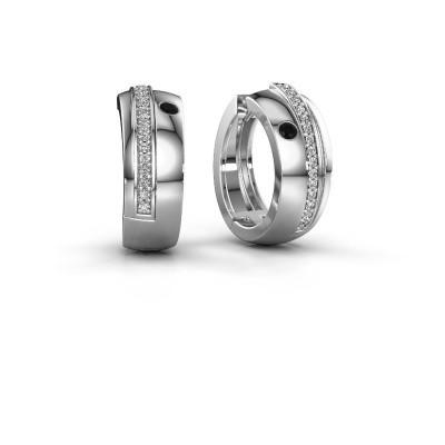 Foto van Creolen Shakita 925 zilver zwarte diamant 0.222 crt