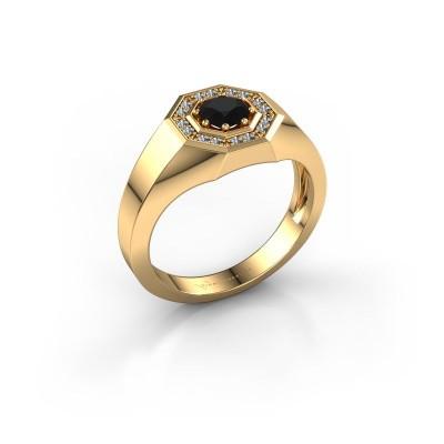 Foto van Heren ring Jaap 585 goud zwarte diamant 0.72 crt