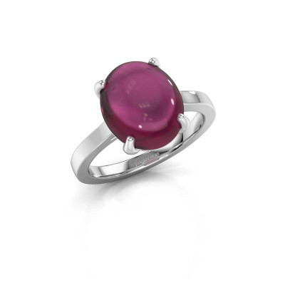 Foto van Ring Mallie 1 585 witgoud rhodoliet 12x10 mm