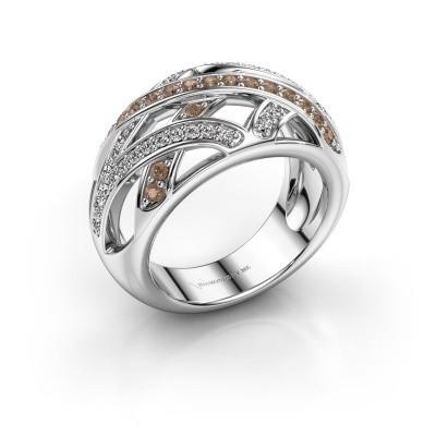 Ring Yinthe 585 witgoud bruine diamant 0.60 crt