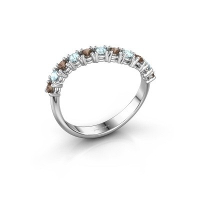 Foto van Ring Eliza 925 zilver rookkwarts 2 mm