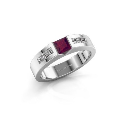 Foto van Verlovings ring Arlena 2 585 witgoud rhodoliet 4 mm