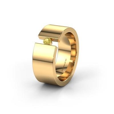 Trouwring WH0146L18BP 375 goud gele saffier ±8x2 mm