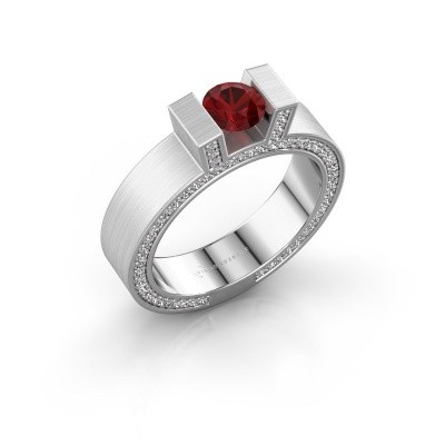 Picture of Ring Leena 2 585 white gold ruby 5 mm