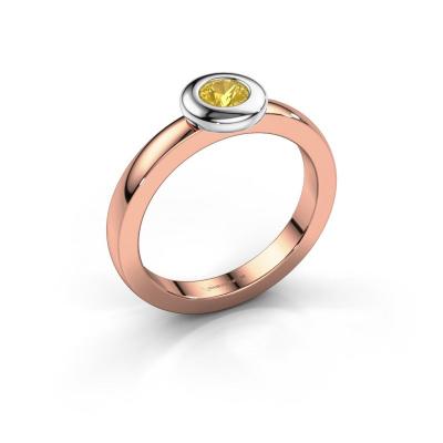 Ring Iris 585 rose gold yellow sapphire 4 mm