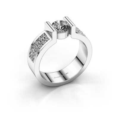 Engagement ring Isabel 3 585 white gold diamond 0.900 crt