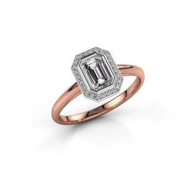 Verlovingsring Noud 1 EME 585 rosé goud diamant 0.76 crt