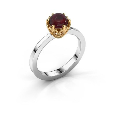 Ring Marly 585 witgoud granaat 6 mm