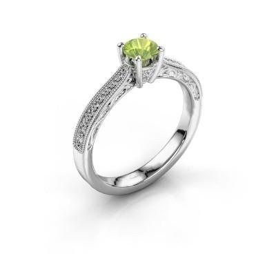 Belofte ring Shonta RND 925 zilver peridoot 4.7 mm