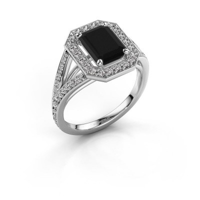 Foto van Promise ring Angelita EME 585 witgoud zwarte diamant 2.629 crt