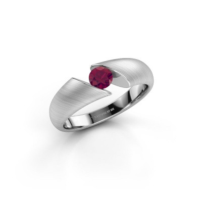 Photo de Bague Hojalien 1 585 or blanc rhodolite 4.2 mm