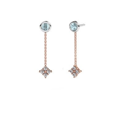 Picture of Drop earrings Ardith 585 rose gold zirconia 2 mm