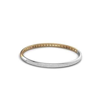 Foto van Slavenarmband Emely 4mm 585 goud lab-grown diamant 1.178 crt