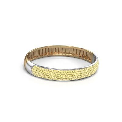 Slavenarmband Emely 10mm 585 goud gele saffier 1.7 mm