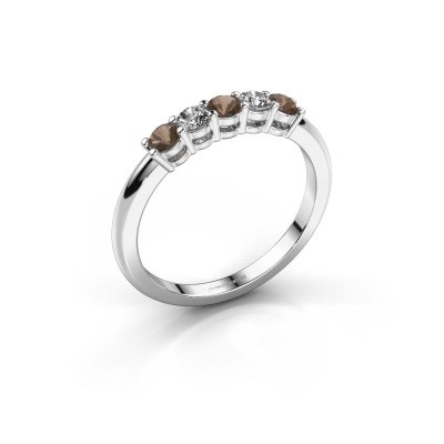 Foto van Promise ring Michelle 5 585 witgoud rookkwarts 2.7 mm