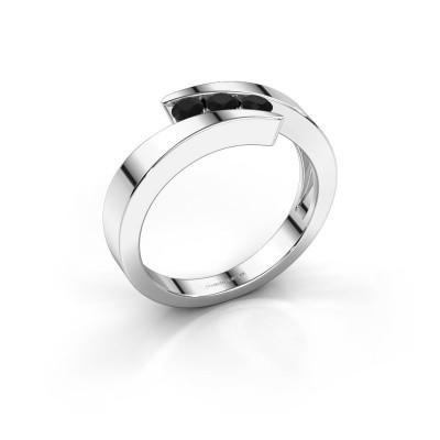 Foto van Ring Gracia 925 zilver zwarte diamant 0.288 crt