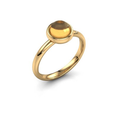 Ring Blossom 585 gold citrin 6 mm