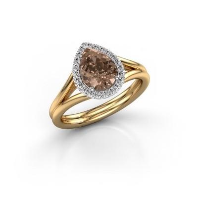 Foto van Verlovingsring Elenore 585 goud bruine diamant 1.097 crt