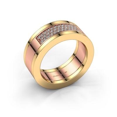 Foto van Ring Marita 1 585 rosé goud diamant 0.235 crt