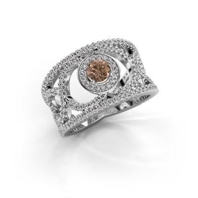 Foto van Ring Regina 925 zilver bruine diamant 1.25 crt