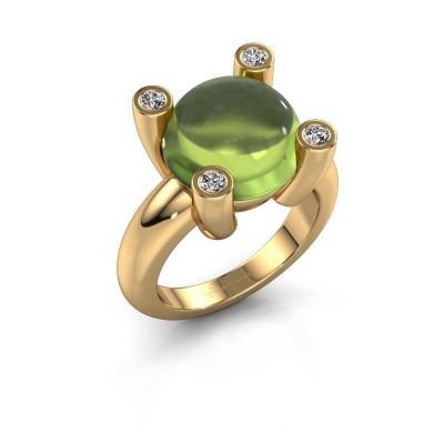 Ring Janice RND 585 goud peridoot 12 mm