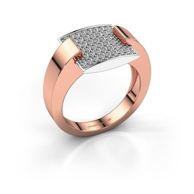 Bague Silke 585 or rose diamant synthétique 0.30 crt