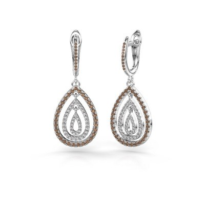 Foto van Oorhangers Marietta 2 585 witgoud bruine diamant 0.852 crt