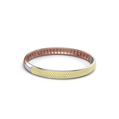 Slavenarmband Emely 7mm 585 rosé goud gele saffier 1.2 mm
