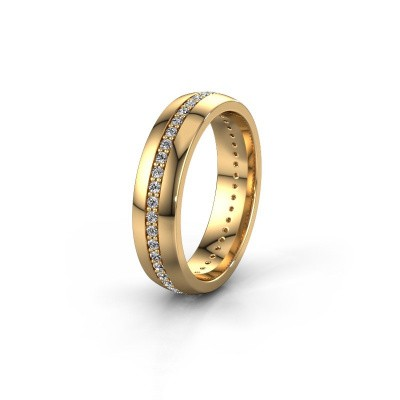 Trouwring WH0103L25BP 585 goud diamant ±5x2 mm