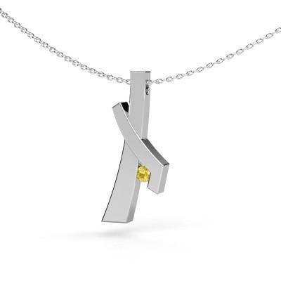 Foto van Hanger Alyssa 925 zilver gele saffier 2.7 mm