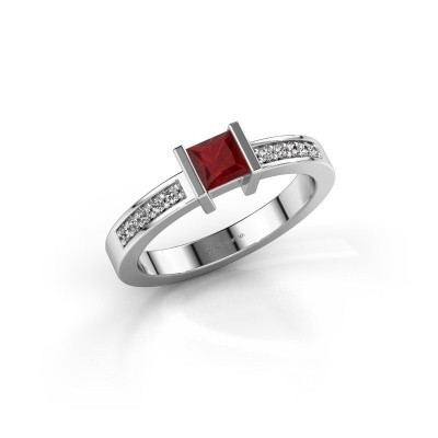 Engagement ring Jordan 925 silver ruby 4 mm
