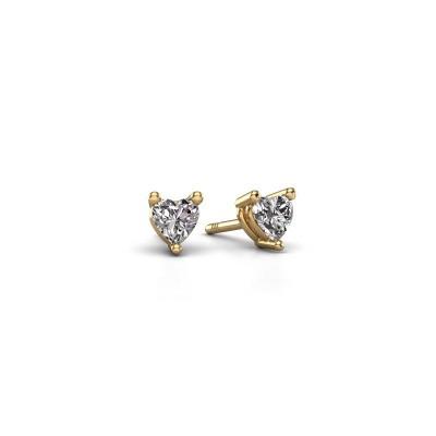 Foto van Oorstekers Garnet 375 goud diamant 0.50 crt