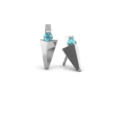 Picture of Earrings Corina 585 white gold blue topaz 3 mm