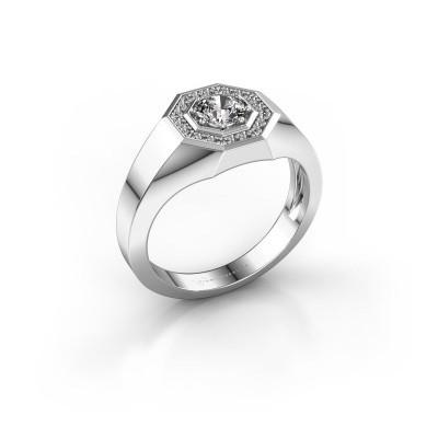 Foto van Heren ring Jaap 375 witgoud diamant 0.62 crt