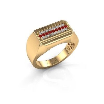 Heren ring Gerard 375 goud robijn 1.4 mm