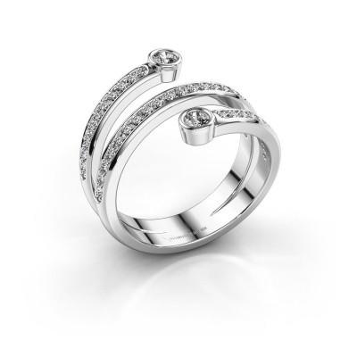 Foto van Ring Selena 1 925 zilver diamant 0.435 crt