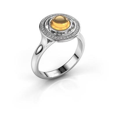 Ring Salima 950 platina citrien 6 mm