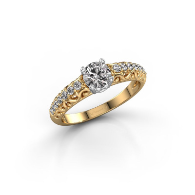 Picture of Engagement ring Mellie 585 gold zirconia 5 mm
