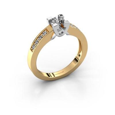Foto van Verlovingsring Nina 2 585 goud diamant 0.460 crt