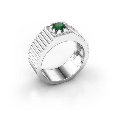 Pink ring Elias 925 zilver smaragd 5 mm