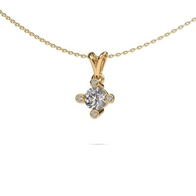 Foto van Hanger Cornelia Round 375 goud lab-grown diamant 0.62 crt