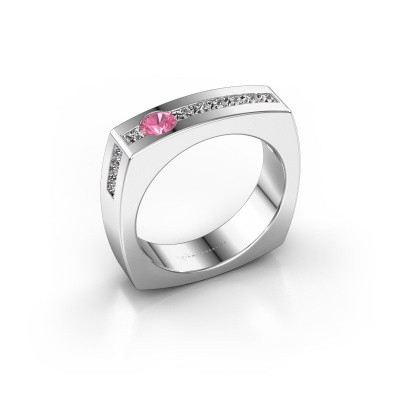 Picture of Men's ring Arend 585 white gold pink sapphire 3.8 mm