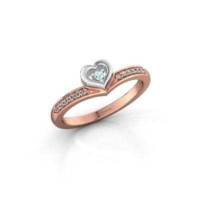 Ring Mimi 585 rose gold aquamarine 2 mm