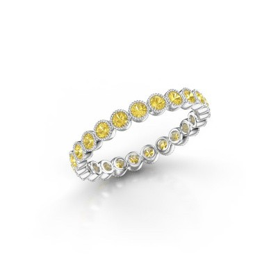 Picture of Ring Mariam 0.03 950 platinum yellow sapphire 2 mm