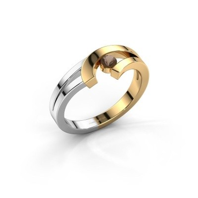 Ring Yentl 585 goud rookkwarts 3 mm
