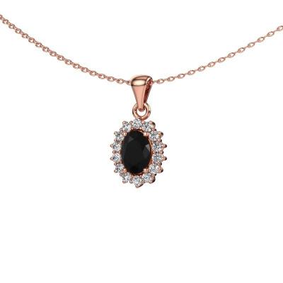 Foto van Hanger Margien 375 rosé goud zwarte diamant 1.05 crt