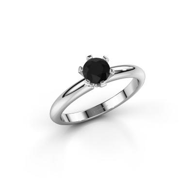 Foto van Verlovingsring Tiffy 1 925 zilver zwarte diamant 0.60 crt
